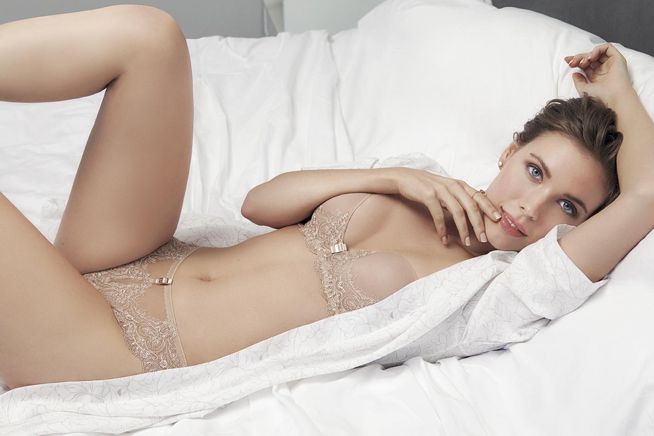 conjunto sujetador y braguita nude