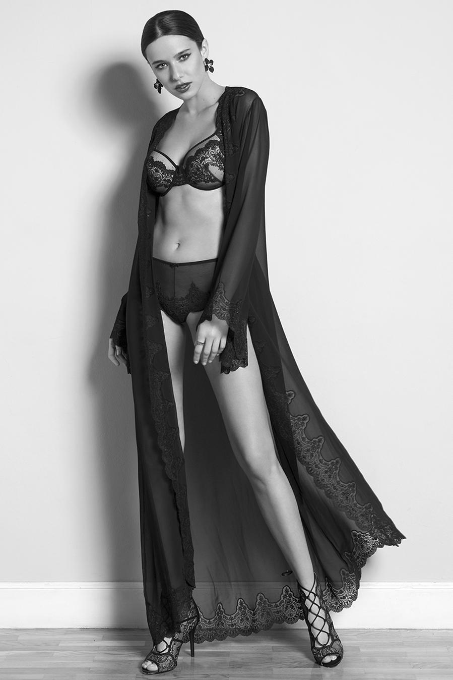 black bridal lingerie